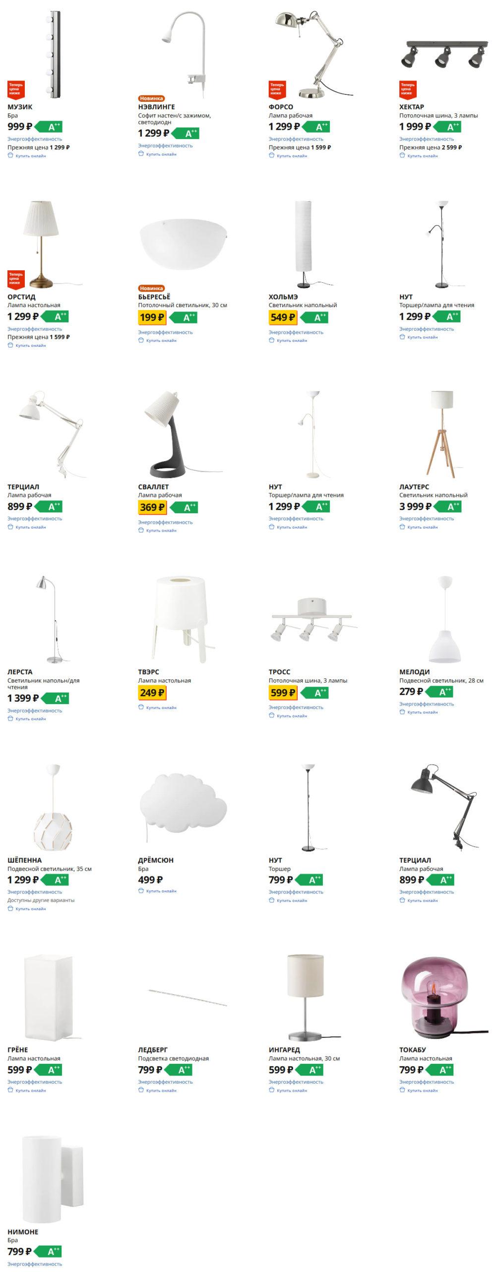 Лампы Икеа