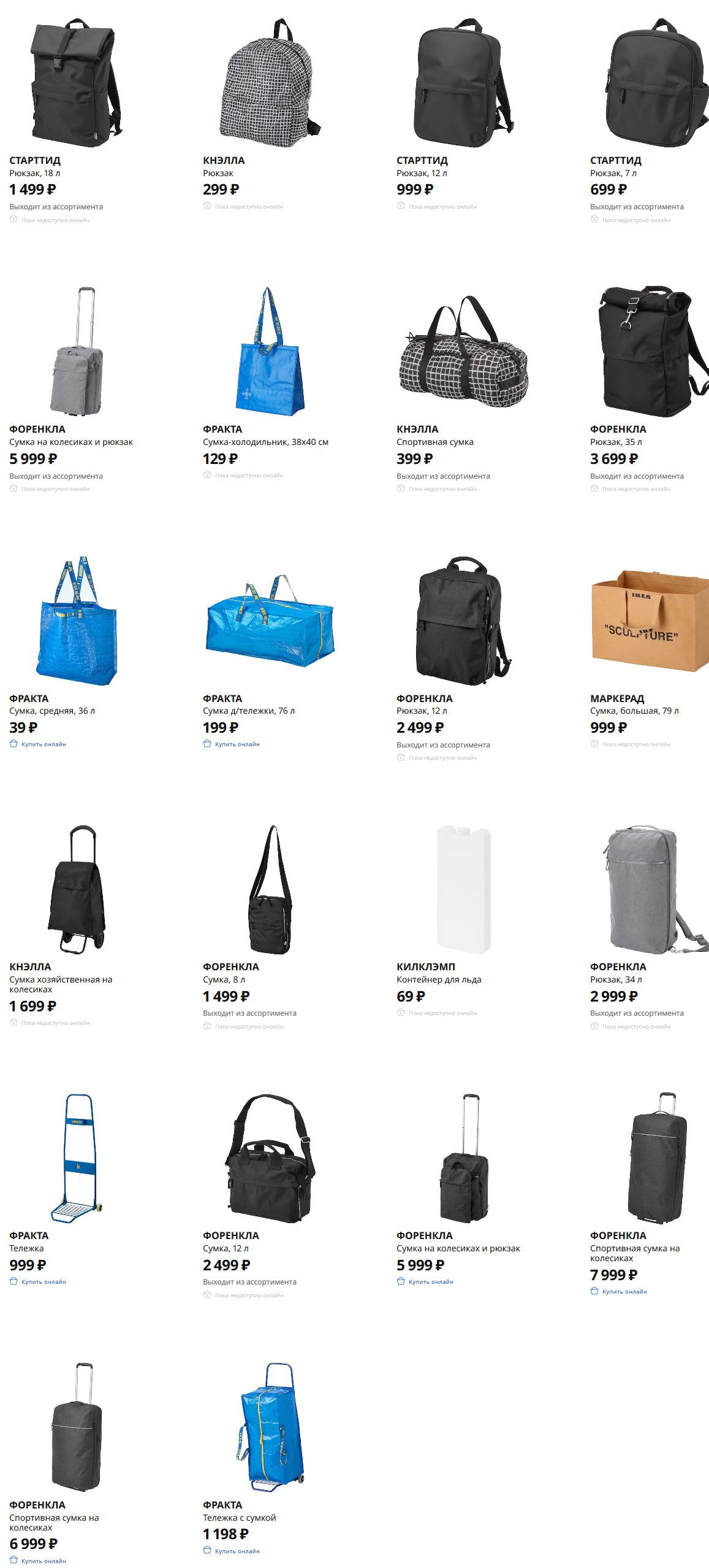 Сумки и рюкзаки Икеа